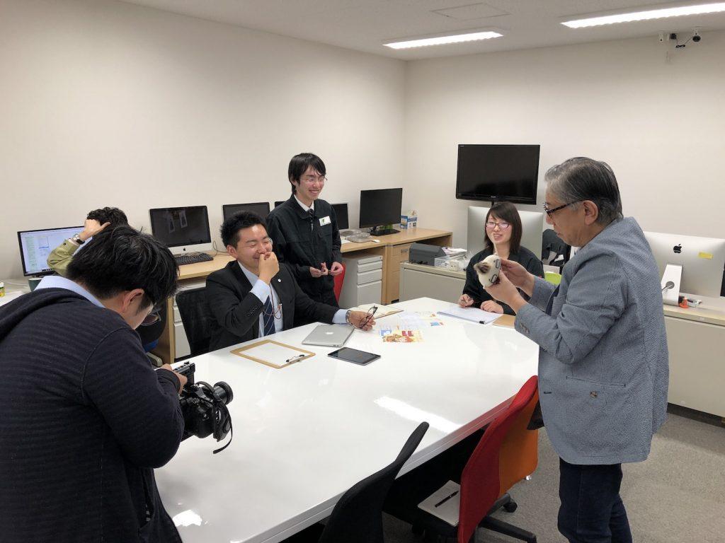 盛岡事業所紹介ムービー撮影風景