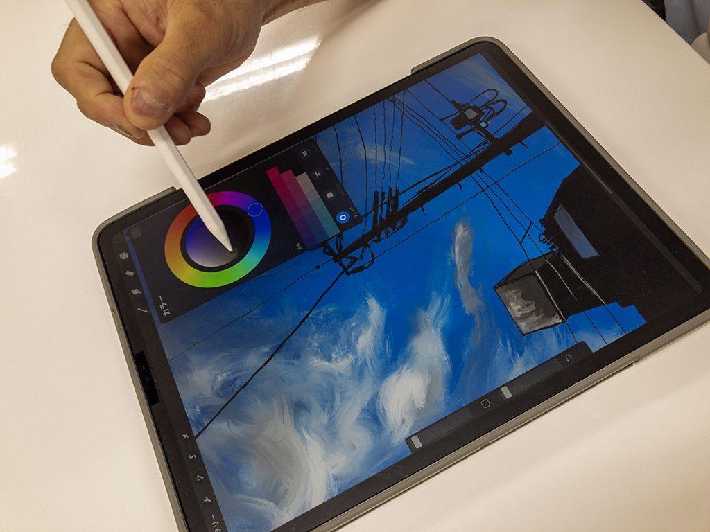 iPadProでの製作画面